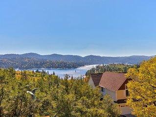 Lake View Getaway w/ Free WiFi, a Fireplace, & a Full Kitchen!