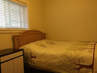 Two bedroom suite with owned kitchen and bathroom, 8 minutes to skytrain