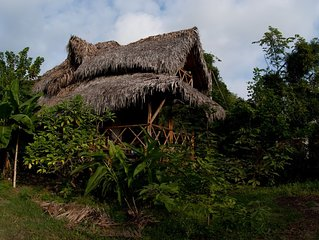 Ayampe Cozy wooden house, three minutes walking to the beach