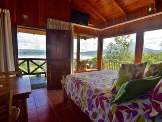Gorgeous Cottage with Pool & Jacuzzi access & Spectacular Volcano & Lake views.