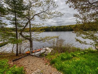 Charming waterfront getaway w/ a furnished deck, private dock, & canoe