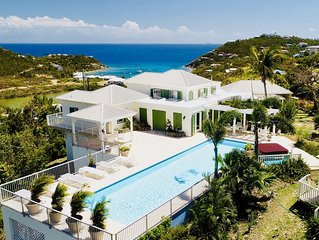 5 bedroom villa with stunning ocean views, large pool and hot tub.