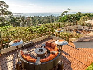 Chic 4BR/4BA w/ Private Hot Tub, Sprawling Deck & Panoramic Bay & Ocean Views