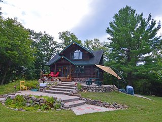 Secluded Custom Log Home on 34 acres