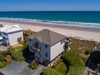 OUR BEACH HOUSE: 4 BR / 4 BA oceanfront in Topsail Beach, Sleeps 8
