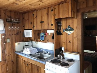 Waterfront cabin. Two bedroom waterfront cabin private boat slip on Brandy pond.