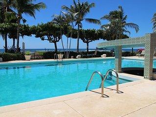 Oceanfront large 2 bedroom condo located in quiet area