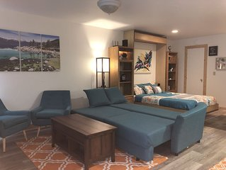 New Comfy studio with shared Hot-tub/Sauna close to Beach/Northstar/Trails