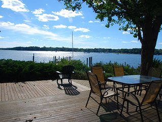 Best View in Oyster Harbors with Private Beach and Deep-Water Dock