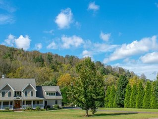 Blue-ridge ⛰ all around view from this amazing home with stream in back yard!