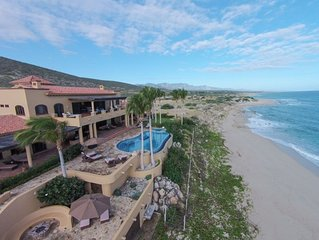 Stunning Beach Front Hacienda with private beach and pool