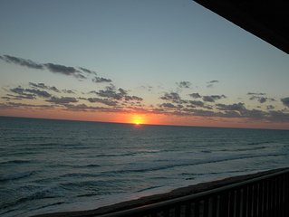 top floor penthouse corner unit wrap around balcony, fantastic view, beach front