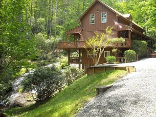 CASHIERS/LAKE GLENVILLE AREA North Carolina Mountains Waterfall Vacation Home