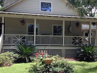 Private cottage home with pool/spa on private street.