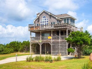 Immaculate Sunsets! Semi-Soundfront, Rodanthe- Pool w/ Cabana, Hot Tub, Grill