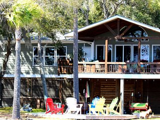 DIRECTLY ON THE INTERCOASTAL WATERWAY WITH DOCK IN NO WAKE ZONE PRIVATE ISLAND