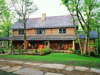 Luxury Log Home. Douglas Lake Estate. 40 acres with only 2 homes.