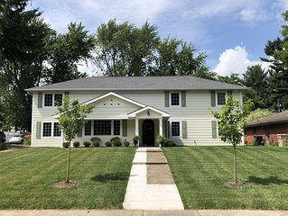 BRIGHT, BEAUTIFUL NEW HOME ~ 1 Mile to ND ~ PERFECT FOR LARGE GROUPS!
