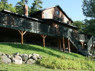 Spectacular Squam Lake, NH House with tennis court, dock and beach