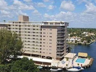 Renovated 2/2 with ocean and intracoastal views