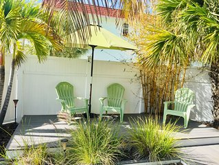 Cozy Water View House, One Block From The Beach, Private Yard!