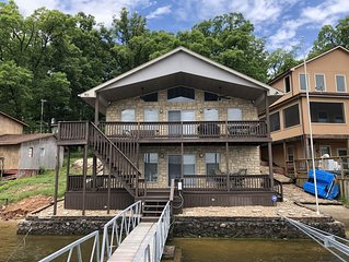 3 bed / 3 bath home with dock, indoor bar & lots of space for your friends/fam!