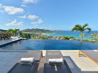 ***** VILLA MYSTIQUE, in the heart of St. Barths