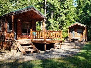 Cabins at Treefrog Woods , Port Townsend. Includes (2) private vacation cabins