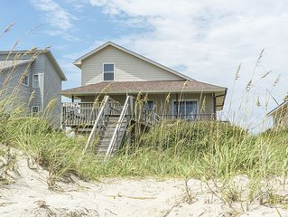 Ocean Breezes: Vintage Oceanfront Home on Oak Island's Coveted West End