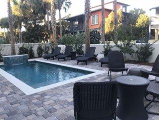 Private Waterfall Pool, Oversized Decks, Beach set up, 5*Reviews, Custom Built!