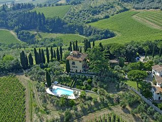 Apartment in Villa with swimmingpool & Winery in the Chianti