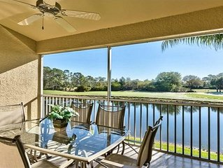 *New Listing!* Sunny 2 BR/2 Bathroom Condo Gorgeous View Of Golf Course And Lake