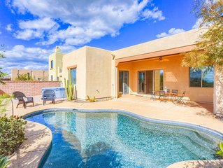 Inviting home in Marana w/ gorgeous views, a private hot tub, & pool