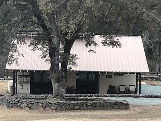 Quaint, rustic bunkhouse on 65 acre horse ranch.