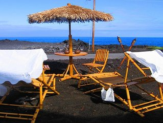 145 ft Ocean Front Hula Hut- Quiet Getaway-Whales-Sound Waves-Spa Tub