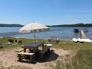 Lakefront Home with Private Dock, Private Beach, First Time Rental