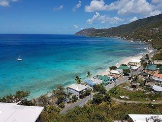 Walk to beach & restaurants - Overlooking Apple Bay, Tortola