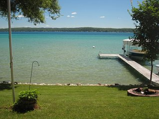 Torch Lake Lakefront Cottage with Large Boat Lift.