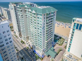 Spacious 2 bedroom at family-friendly Ocean Beach Club Resort on Virginia Beach.