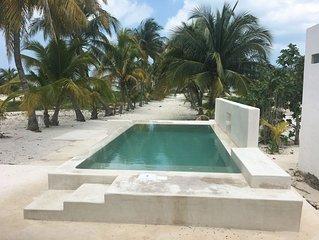 Casa del Palmar, in the beach,Telchac Puerto Yucatan