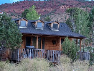 Beautiful Cabin on 10 acre horse ranch- River front