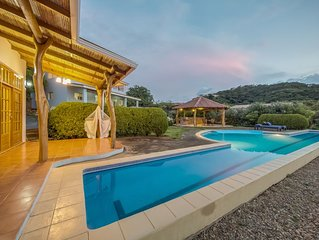 Your Home Away Ocean view Villa lap-pool. Garden and huge outside area with bbq