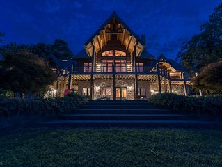 THE LODGE! Best views on the Lake! Amazing Log Cabin | Expansive Water Views | S