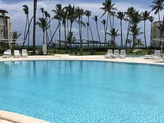 Delightful Punta Cana Turquesa Beachfront 3 BR 1st Floor Apt w/Patio