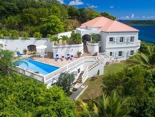 Gracious Villa on Caribbean Sea in Boatman Point