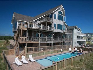Oceanfront stunner with Incredible Views! Htd Pool&HotTub, Elevator,Gm Rm