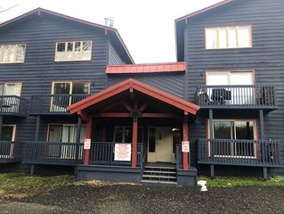Newly remodeled ski in condo. Walking distance to ski lifts and restaurants.