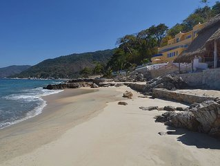 Playasola - 3 Acre Oceanfront Villa with Private Sandy Beach.