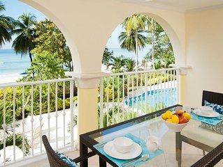 Posh Oceanfront Barbados Two-Level Condo Apt on Gorgeous Dover Beach