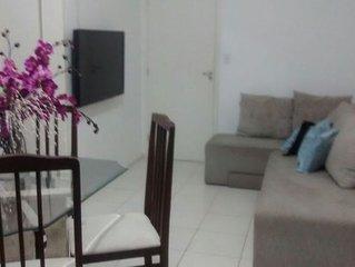 Apartamento 2/4, Ar, Suíte, Wi- Fi, Varanda e Piscina.